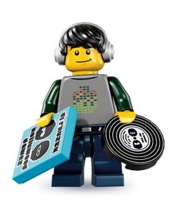 Lego minifig series 8 dj vj music turntables tech tek techno house nrg r&b dubstep funk trance progressive vinyl breakbeats beats breaks acid - double